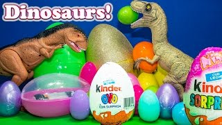 Opening Dinosaur Surprise Eggs with  Tsum Tsum Toys and the Assistant