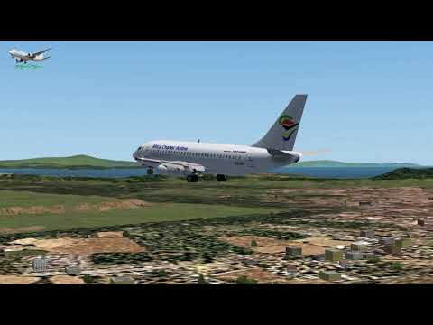 Boeing 737 200 Africa Charter Airline ZS SIT  FYWH to LGAV