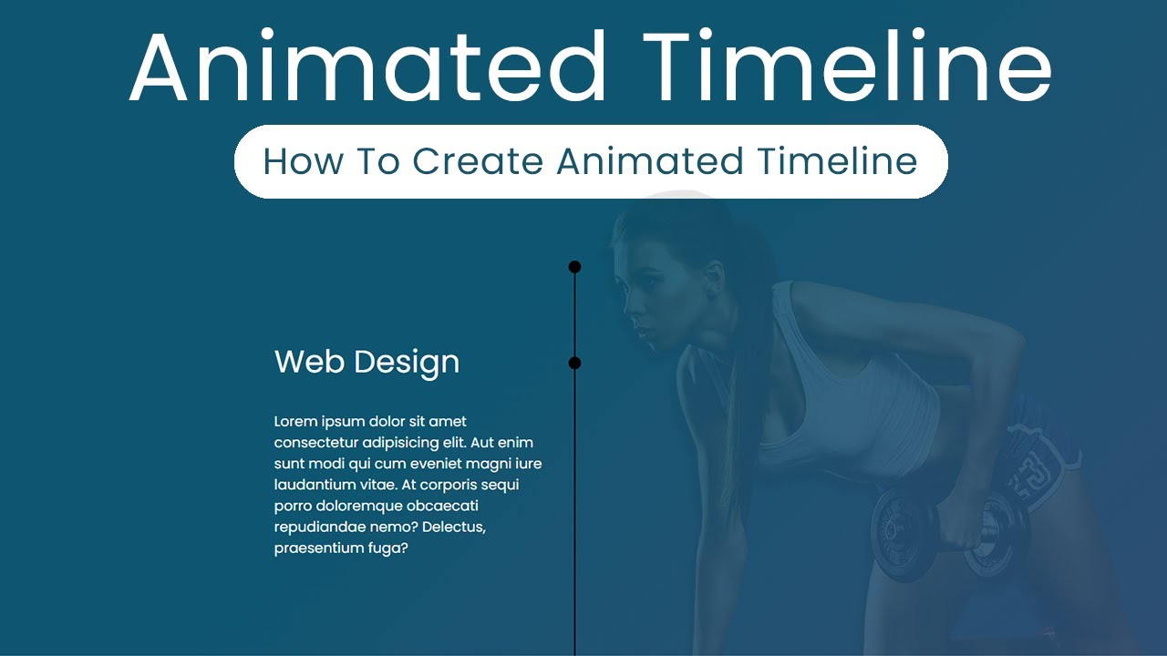 How to Create Animated Timeline for web design - Latest web design