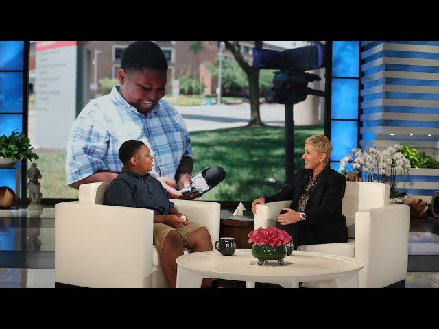 Ellen Meets Incredible Kid Reporter Jaden Jefferson