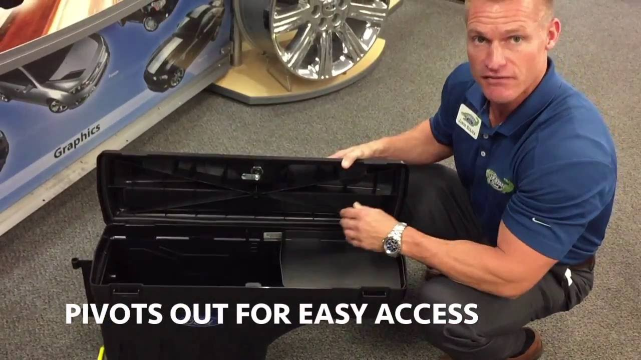 Ford F 150 Tool Box >> Ford Pivot Tool Box that fits Ford F-150 and Ford F-250 pickup trucks - YouTube