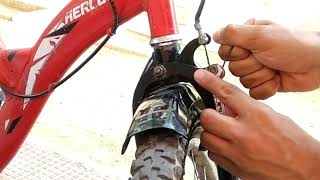 How to repair cycle front brakes like disk brakes