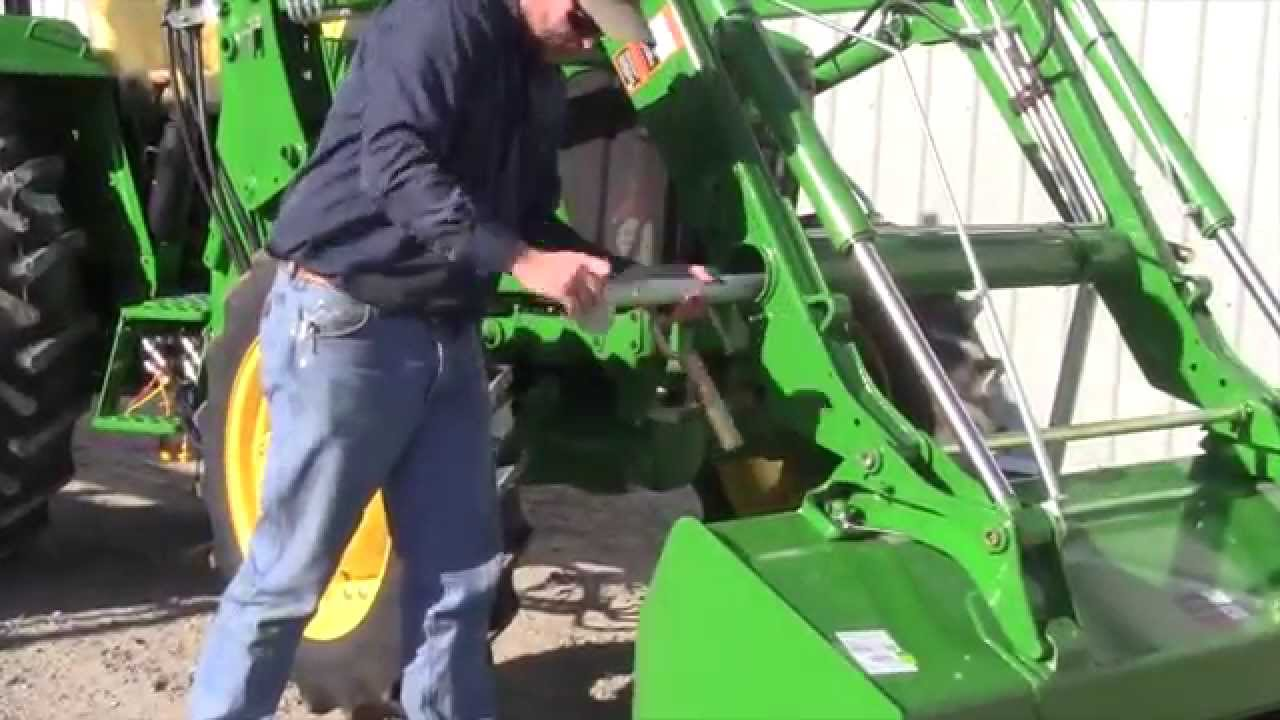 How To Attach A 553 Loader To A John Deere 5 Series