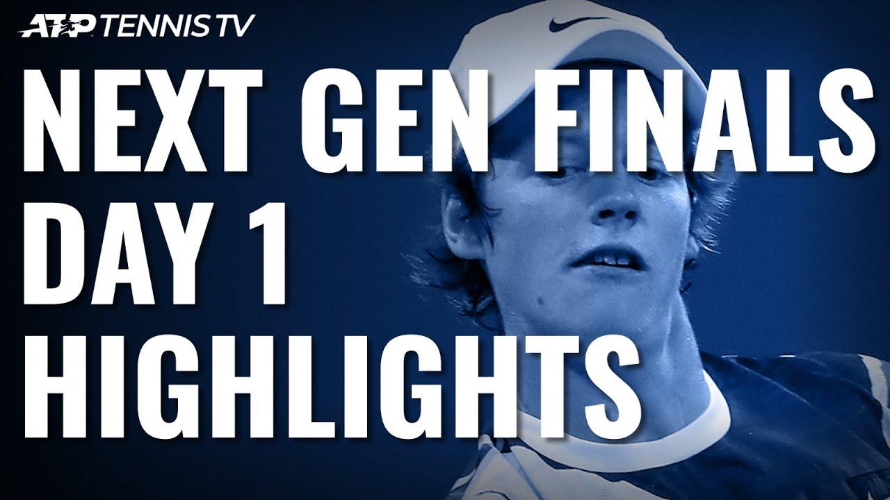 Jannik Sinner Notches Milestone Win in Milan | Next Gen ATP Finals Day 1 Highlights