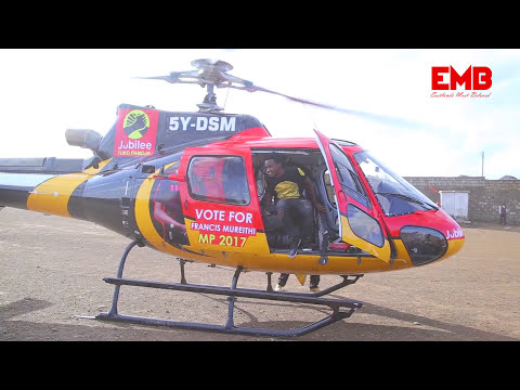 BAHATI - LANDS WITH A CHOPPER AT SOWETO GHETTO IN KAYOLE