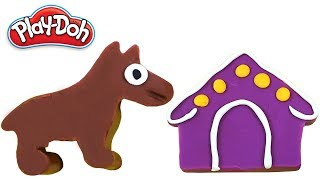 Learn Colors | Play Doh Dog Making for Kids Children | Dog Sound