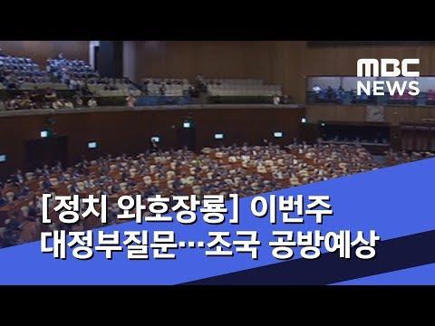 [정치 와호장룡] 이번주 대정부질문…조국 공방예상 (2019.09.23/뉴스외전/MBC)