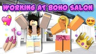 ROBLOX | Me Working at Boho Salon!
