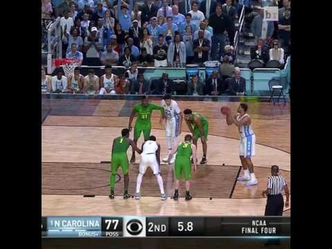 The final moments of the UNC vs Oregon game!