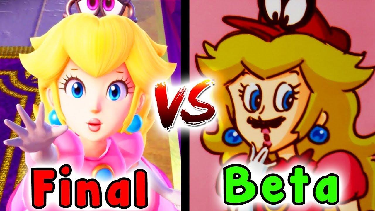 Super Mario Odyssey CONCEPT ART Comparison - Beta SECRETS And EASTER