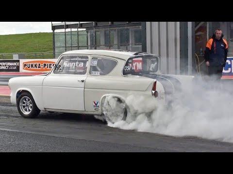 Ford Anglia 105e runs 11.10 at 126 mph