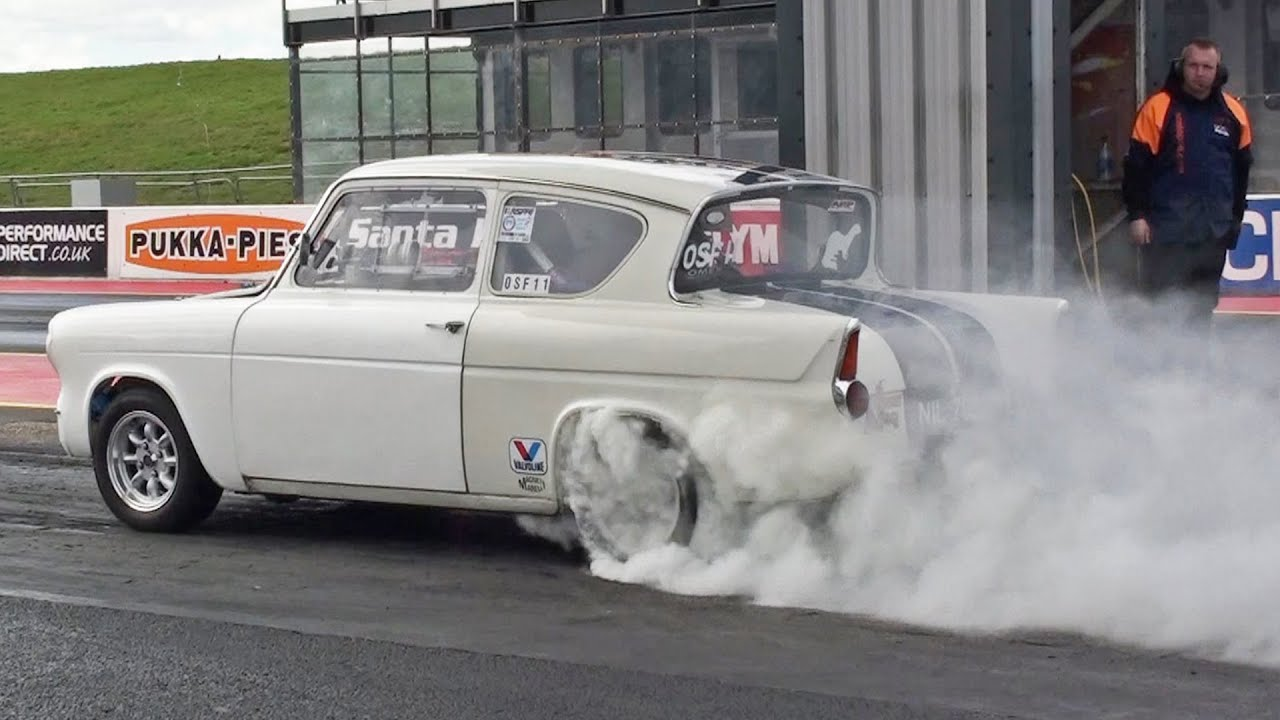 Ford anglia 105e runs 11 10 at 126 mph