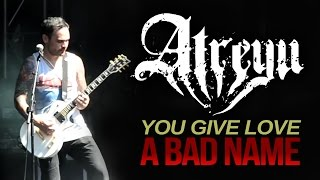 "Atreyu - ""You Give Love A Bad Name"" LIVE! Aftershock 2014"