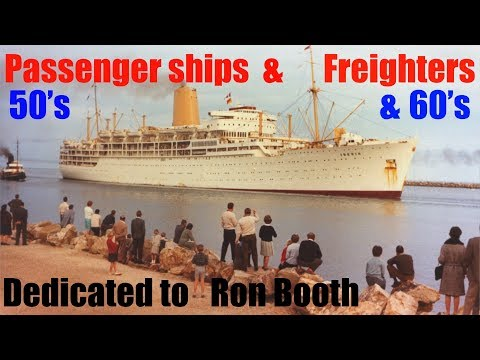 Passenger ships and freighters of the 50's and 60's