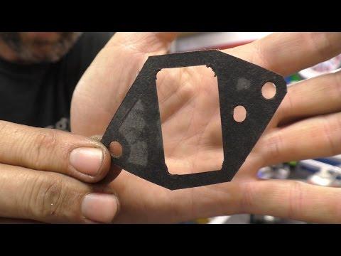 Making a paper carburettor gasket