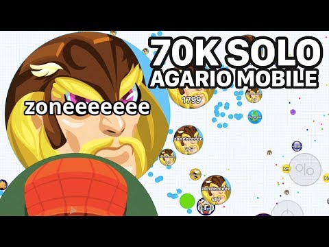 AGARIO MOBILE SOLO 70K (Agar.io Mobile Gameplay)