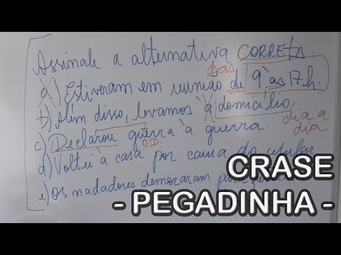CRASE - pegadinha 1 - from YouTube · Duration:  6 minutes 46 seconds