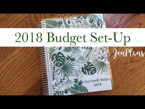 BUDGET PLANNER | 2018 Budget Planner Set-Up in my Erin Condren Monthly