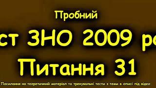 ЗНО з української  Пробний тест 2009  Пояснення питання 31  Якою частиною мови є виділені слова