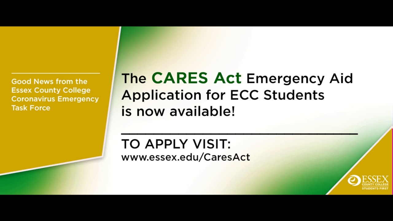 Essex County College CARES Act Application for Students ...