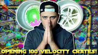 MY LUCK IS INSANE! | THE BIGGEST [100+] VELOCITY ROCKET LEAGUE CRATE OPENING ON YOUTUBE!