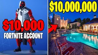 SON OF MULTI-MILLIONAIRE GIVES ME HIS FORTNITE ACCOUNT! (HE BOUGHT SO MANY SKINS!)