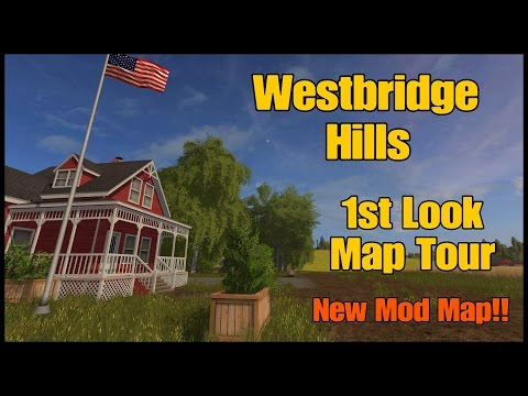 Let's Play Farming Simulator 17 PS4: Westbridge Hills, 1st Look Map Tour (New Mod Map)