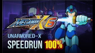 Megaman X6 100% (X) Unarmored- No Damage Completion Run