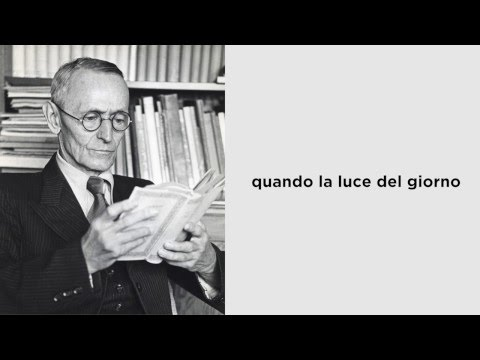 """""""Tienimi per mano"""" di Hermann Hesse, letta da Paolo Rossini"""