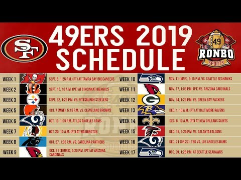 Live 49ers Fans Predictions Reactions To 2019 Regular Season Schedule