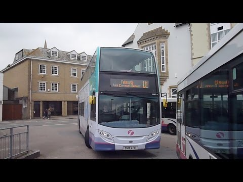 Truro to Falmouth England by Bus 2015