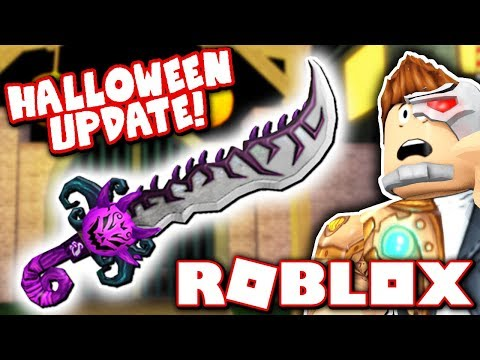 THE NEW MURDER MYSTERY 2 HALLOWEEN UPDATE!! *HOW TO GET HALLOW'S BLADE!!* (Roblox)