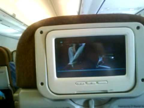 Garuda Indonesia Safety instructure video on board