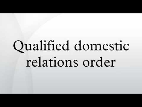 Qualified domestic relations order - YouTube