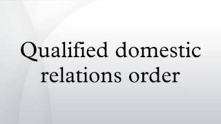 Qualified domestic relations order