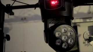 Mini LED Moving Head Wash Review. 7 X 10W RGBW CREE LED