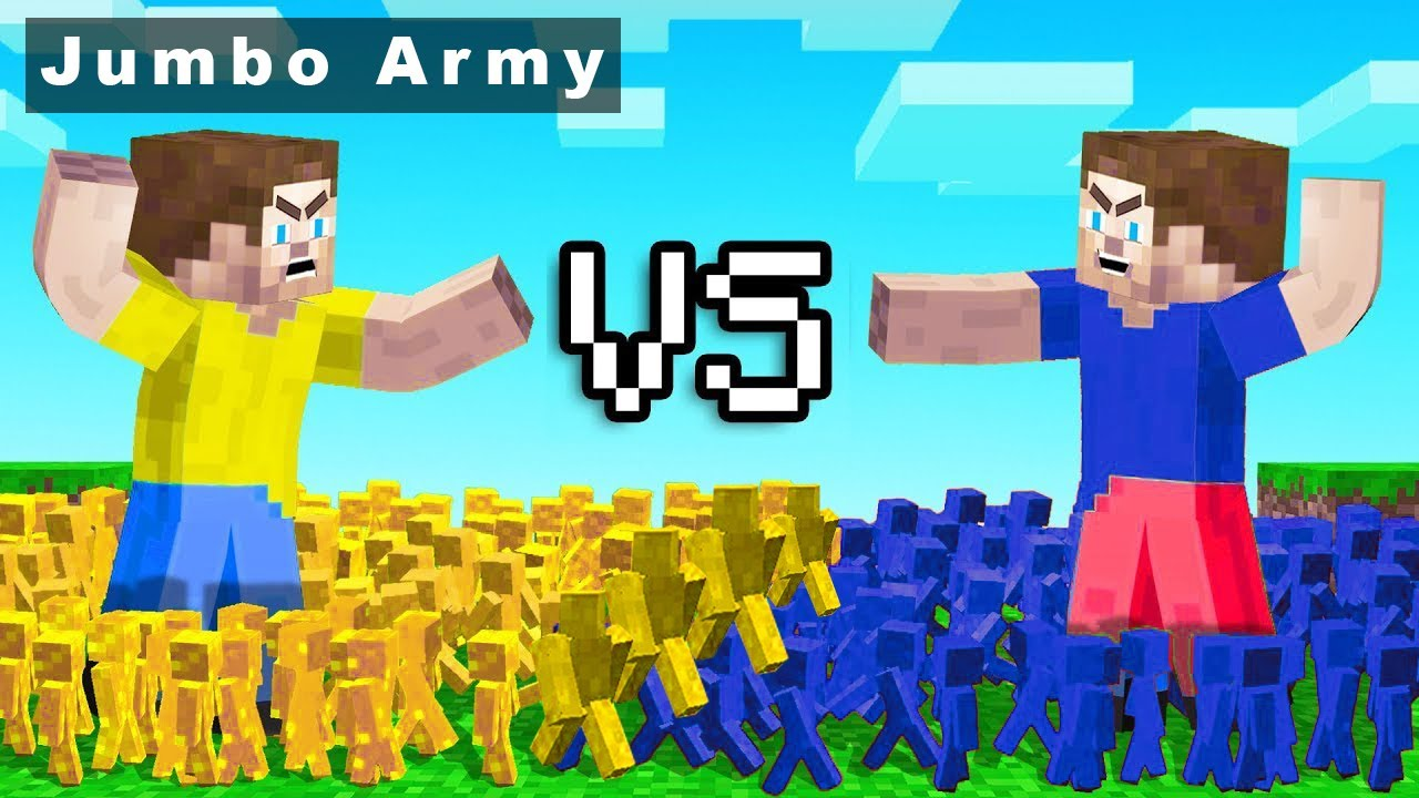 Jumbo Army in Minecraft (CLAY SOLDIERS)