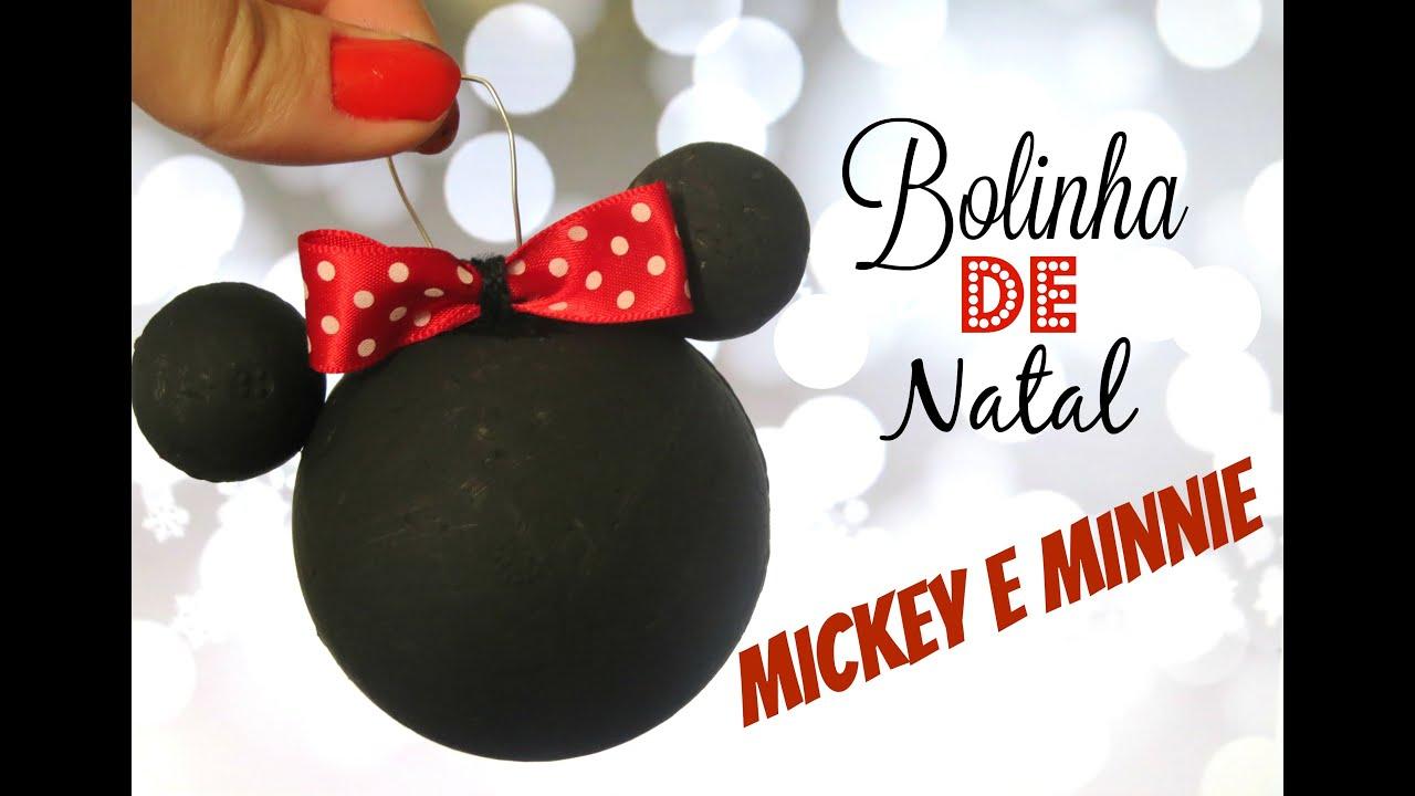 Favoritos Bolinha de Natal (Minnie e Mickey) - YouTube OX58