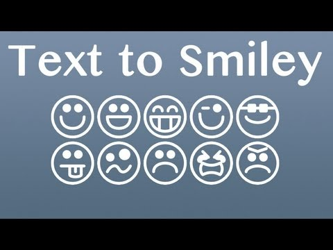Make a Text to Smiley Converter with PHP