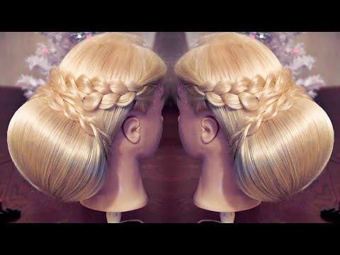 Свадебная причёска с валиком