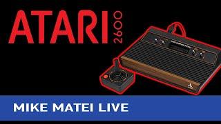 Atari 2600 with Erin Plays - Mike Matei Live