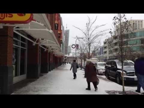 Winter weather in Evanston, Ill.