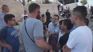 Surrounded by Muslims while preaching Christ Jesus at Damascus Gate in Jerusalem, Israel
