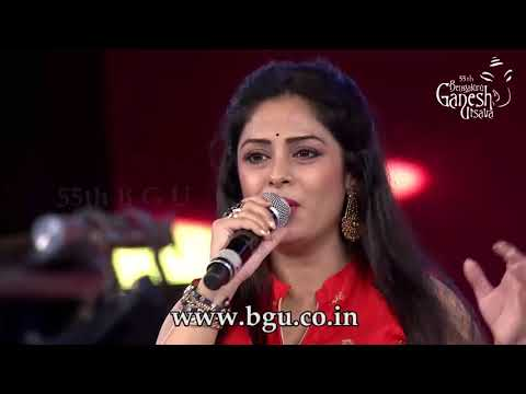 """Sarki Jo Sar Se Woh Dheere Dheere""  By Kumar Sanu And Anuradha Gosh At 55th Bengaluru Ganesh Utsava"