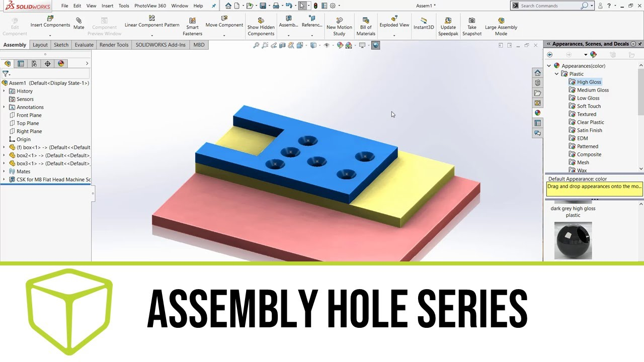 SOLIDWORKS 3D CAD — Assembly Hole Series