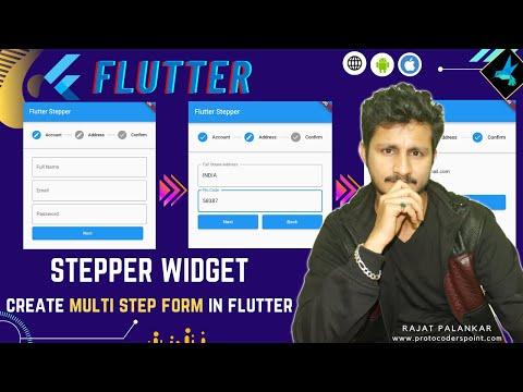 Create Multi Step Form in Flutter   Stepper Widget in flutter