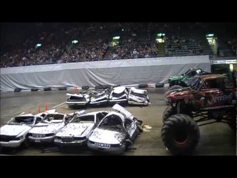 Sioux Falls, SD Monster Truck Winter Nationals Highlights - 1st Show