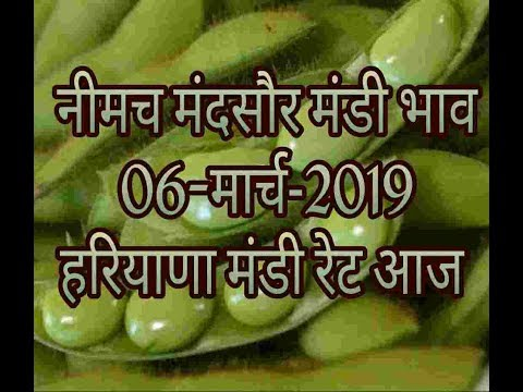 Mandi Bhav 06-03-2019 // Mandi Rates 06-march-2019 // Neemach Mandi Bhav // Soyabean Rates