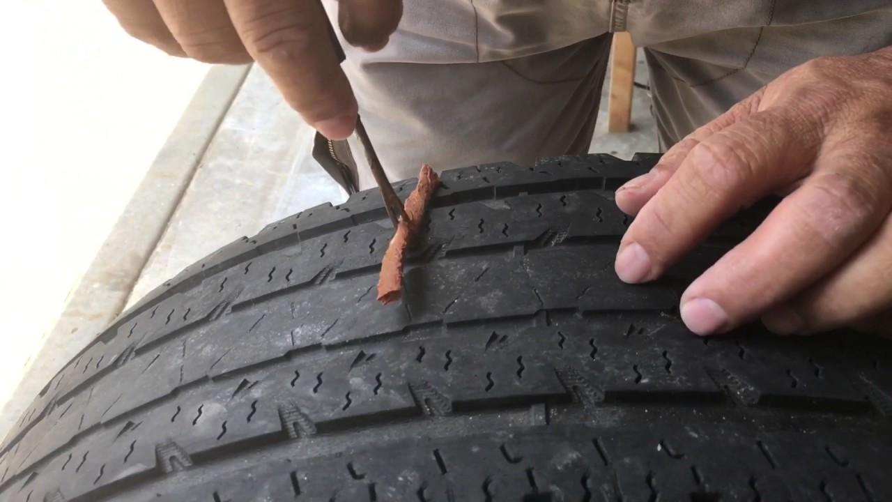 Como reparar una llanta ponchada por un clavo o tornillo for Como reparar una gotera de la regadera