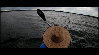 Seventh Sunset Kayaking fishing on Lake Champlain